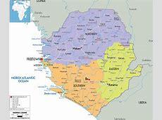 Detailed Political Map of Sierra Leonean Ezilon Maps