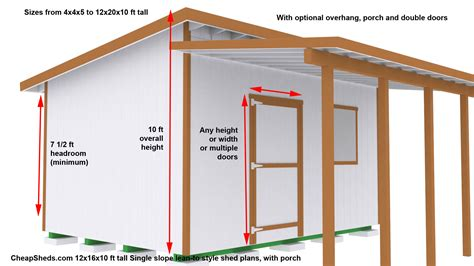 shed plans 8x12 lean to lean to style sheds
