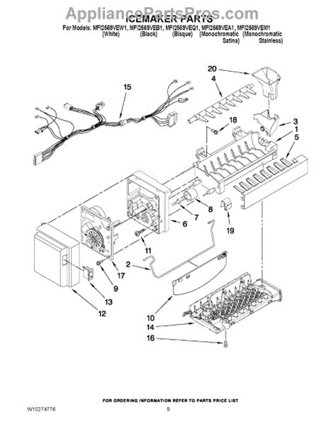 whirlpool wpw icemaker assembly