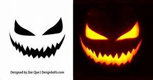 20, Free, Scary, Halloween, Pumpkin, Carving, Stencils, Faces, U0026, Ideas, 2017