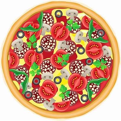 Pizza Clipart Whole Vector Illustration Pie Vectors