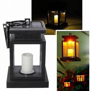 Lanterne Solaire Exterieur : led lanterne bougie solaire lampe ext rieur jardin cour ~ Premium-room.com Idées de Décoration