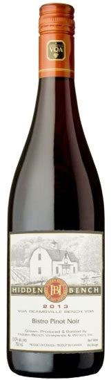 bench pinot noir bench winery bistro pinot noir 2013 expert wine