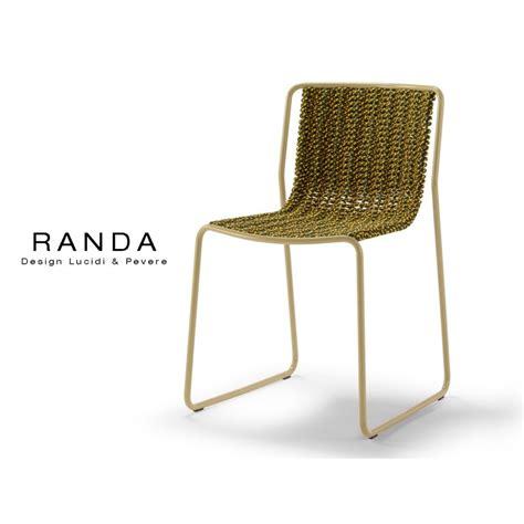 chaise d extérieur chaise d 39 extérieur randa structure acier peint assise