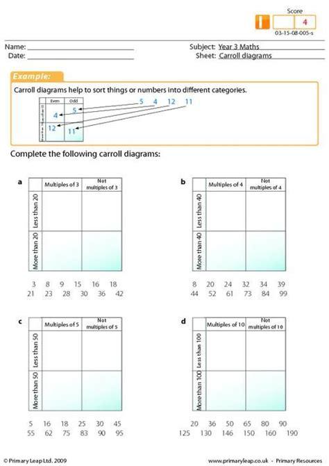 primaryleap co uk carroll diagrams worksheet t4l