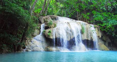 exotic landscape  idyllic waterfall stock footage
