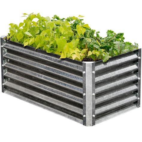 metal garden beds earthmark alto series 22 in x 40 in x 17 in rectangle
