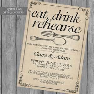wedding rehearsal dinner invitations rehearsal dinner invitation wedding dinner dinner fork spoon kraft paper 2221764