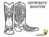 Cowboy Coloring Pages Boot Boots Cowboys Hat Western Colouring Template Ride Yescoloring Clipart Em Horseshoe Bing Description sketch template
