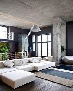 Möbel Aus Beton : wohneinrichtung ideen mit wandverkleidung aus beton und ~ Michelbontemps.com Haus und Dekorationen