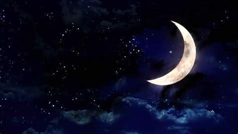 Starry Star Night With Half Video Stock Totalmente