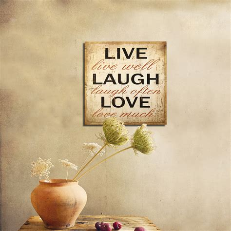 live laugh home decor adecotrading quot live laugh quot wall decor reviews wayfair
