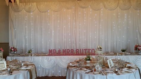 wedding chair cover sashes starlit backdrop love