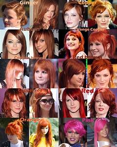 Red orange pink hair color chart - a photo on Flickriver
