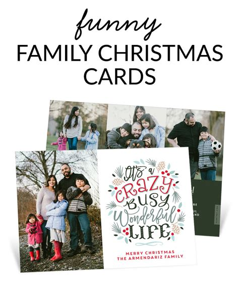 Includes famous quotes and simple wording ideas. Funny Family Christmas Cards   Pear Tree Blog