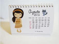 Calendário de mesa 2017 Princesas Léa foto e arte Elo7