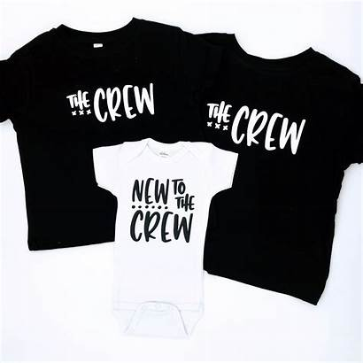 Shirts Crew Sibling Siblings Announcement Announcements Gifts