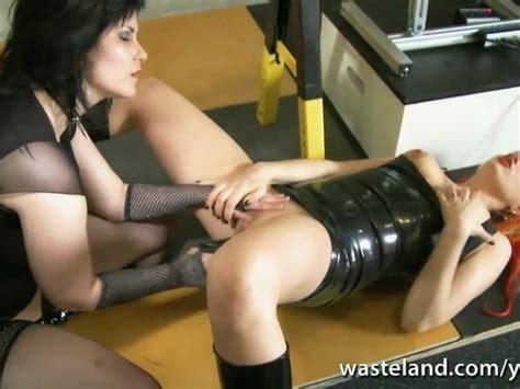Lesbian Dominatrix Fucks Her Girlfriend With Sex Toys In
