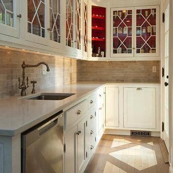 Paint Inside Cabinets - paint inside cabinets country kitchen bhg