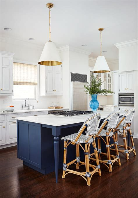 blue kitchen island amie corley interiors house of turquoise 1735