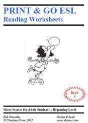 printable ebooks  esl reading  worksheets