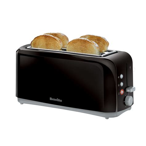 All Black Toaster by Breville Black Slot 4 Slice Toaster Vtt233