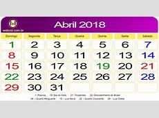 Calendário de Abril de 2018 webcid