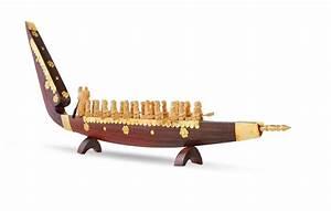 Buy Wooden Miniature Snake Boats Kerala Gifts Online