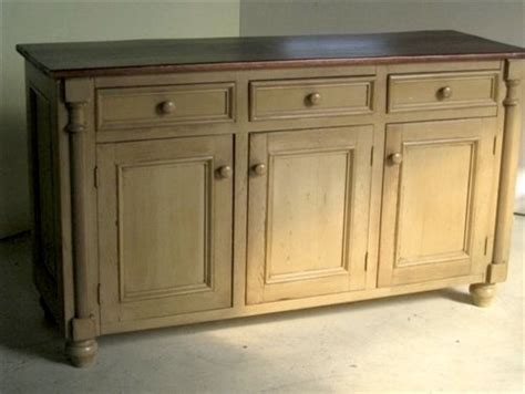Pine Sideboards And Buffets by 3 Door Pine Server With Decorative Trim Farmhouse