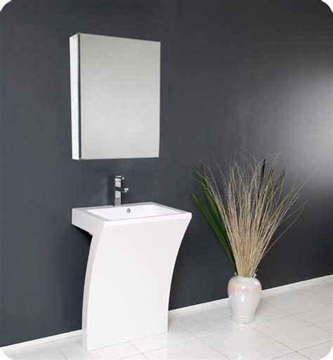 contemporary bathroom pedestal sinks fresca quadro white pedestal sink w medicine cabinet