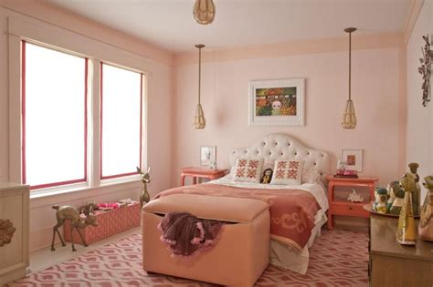 salmon pink wall paint color for bedroom ideas with