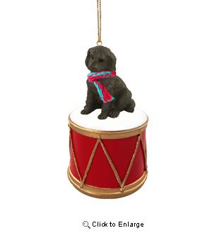 labradoodle holiday ornaments drummer labradoodle chocolate ornament