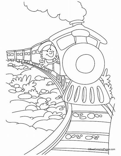 Coloring Train Pages Polar Express Pacific Union