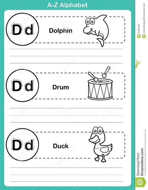 alphabet   exercise  cartoon vocabulary  coloring