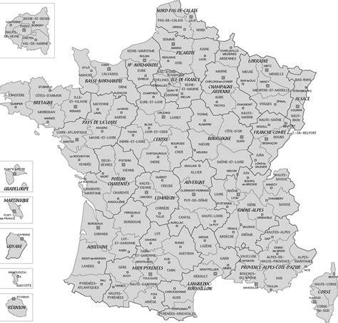 Carte De Avec Villes Principales Et Départements by Carte De Avec D 233 Partements Voyages Cartes