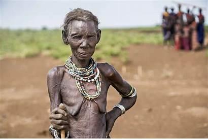 African Tribe Remote Village Away Children Capture
