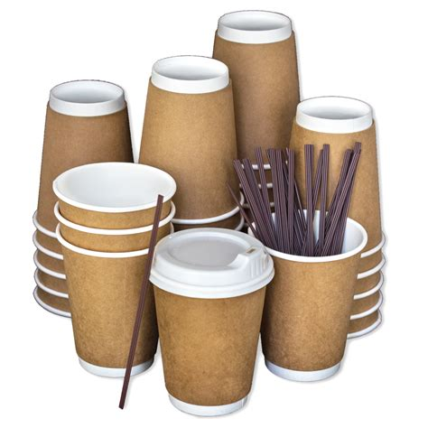 By continuing to use aliexpress you accept our use of cookies (view more on our privacy policy). Disposable Coffee Cups To Go with Lids, Stirrers, and Integrated Sleeves [12oz - 100 Pack ...