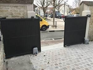 Installateur De Portail Motorisé : chantier portail alu coulissant motoris et ma onnerie ~ Farleysfitness.com Idées de Décoration