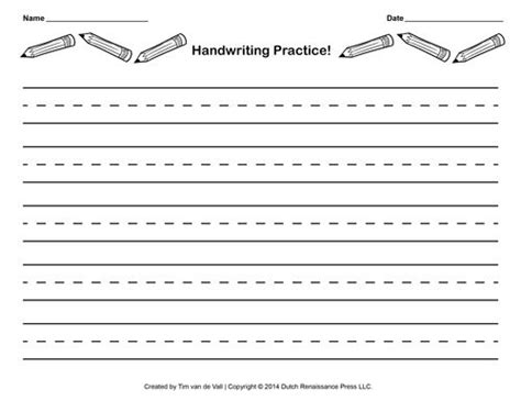 lined writing paper  kids  borders writing