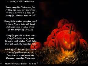 Scary Poems About Halloween by Pumpkin Halloween Holiday Poems
