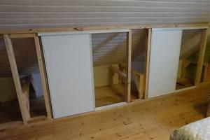 Fabriquer Sa Porte Coulissante Sur Mesure : am nagement d un grand placard sur mesure et pas cher ~ Premium-room.com Idées de Décoration