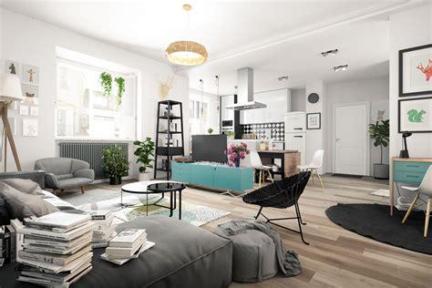 nordic living room interior design bring   cheerful