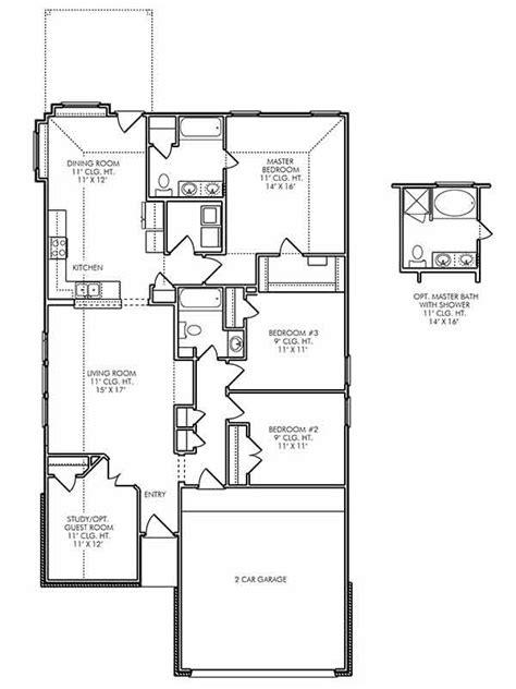 single story house plans  fulshear tx  leeds  vanbrooke  bedroom home floor