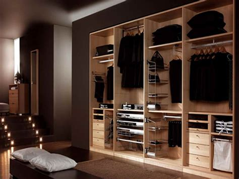 masculine walk in closet organization idea feats