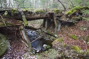 Abandoned Boston And Maine Railroad Timber Bridge - New
