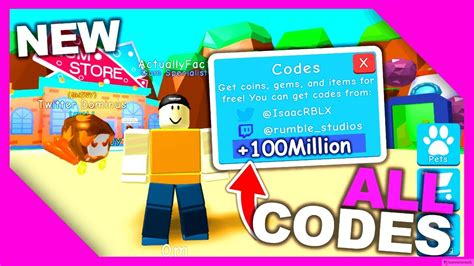 codes  bubble gum simulator youtube