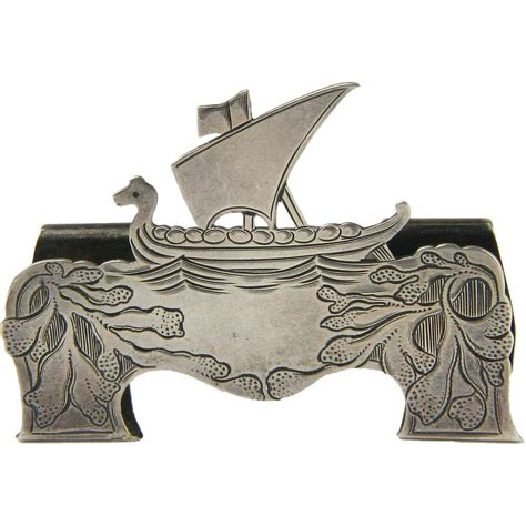 Last day 60% off holiday cards when you buy 60 or more shop now > use code: Marked Tiffany Sterling Silver Norwegian Viking Ship Card Holder, Ca 1907-1947 | Norwegian ...