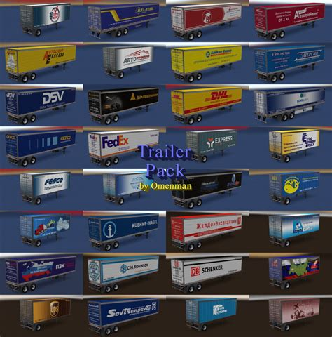 Trailer Pack Logistic v 4.0 ATS -Euro Truck Simulator 2 Mods
