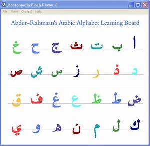 learn arabic alphabets for children With arabic letters for kids
