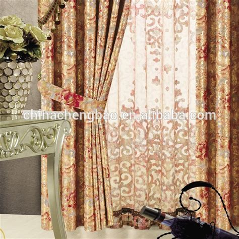 fancy indian style window models of valance string curtain